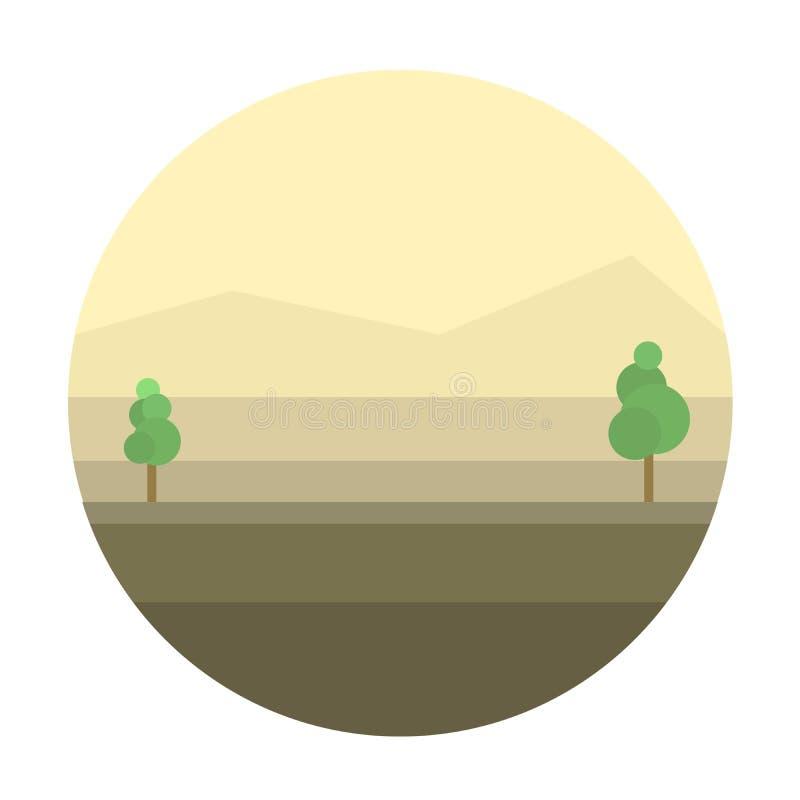 Fond mexicain de désert illustration stock