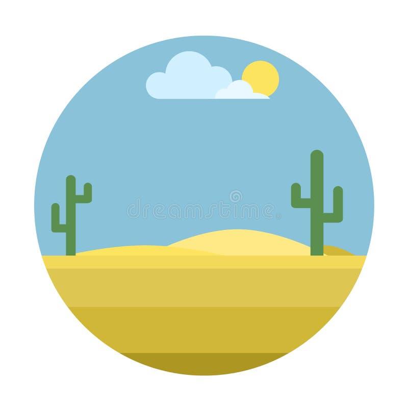 Fond mexicain de désert illustration libre de droits
