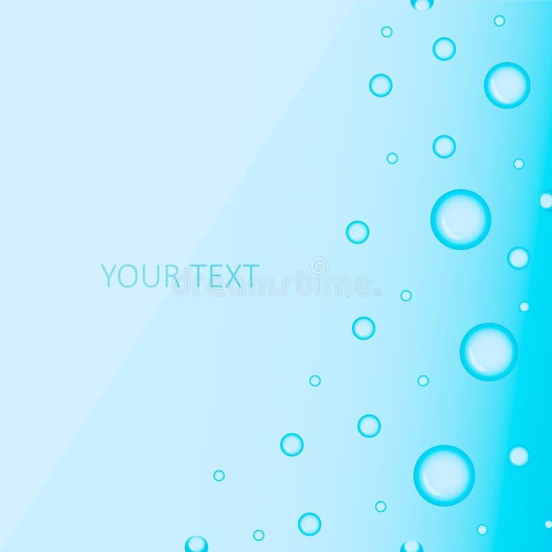 Fond mignon des bulles bleues illustration de vecteur