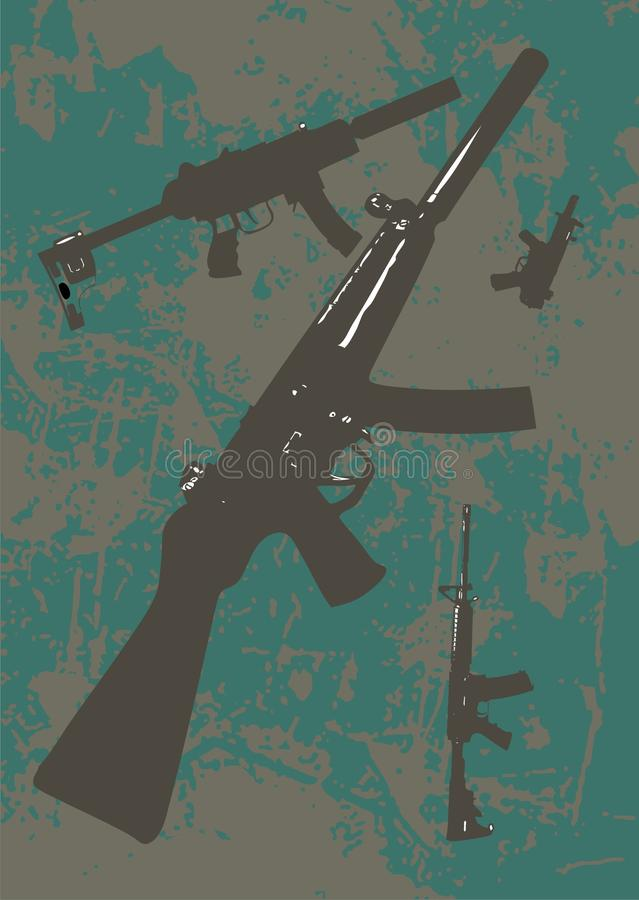 Fond militaire illustration stock