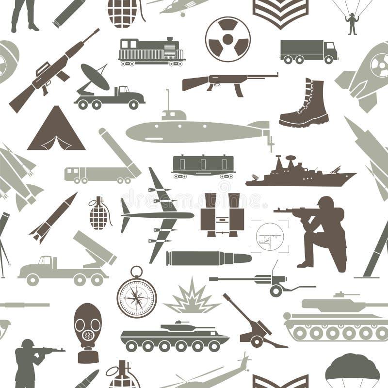 fond militaire Configuration sans joint Éléments militaires, armore illustration stock