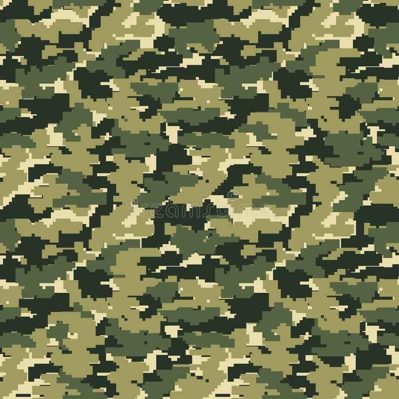 Fond militaire de camo de pixel illustration stock