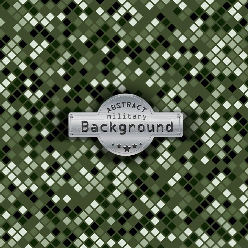 Fond militaire de place de modèle de camouflage illustration de vecteur