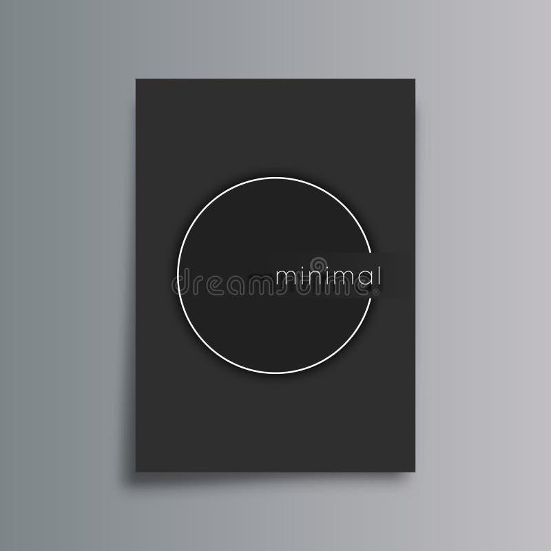 Fond minimal de gradient de conception pour l'insecte, l'affiche, la couverture de brochure, le calibre de dossier, la typographi illustration libre de droits
