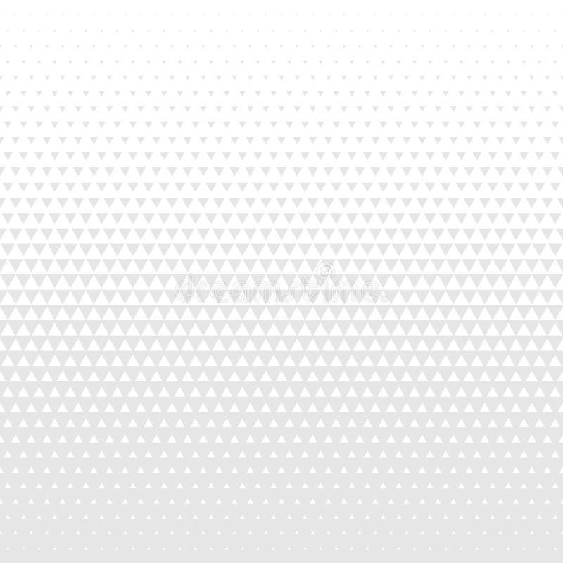 Fond minimal tramé blanc abstrait sans couture de texture de gradient de vecteur géométrique de modèle de triangle illustration libre de droits