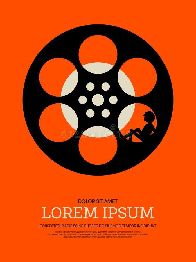 Fond moderne abstrait d'affiche de vintage de film et de film rétro illustration de vecteur