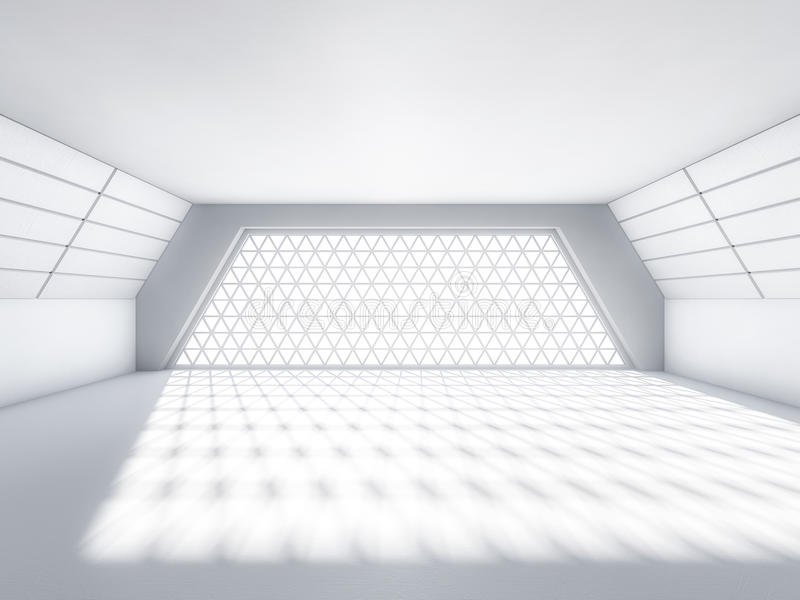 Fond moderne abstrait d'architecture, l'espace ouvert blanc vide illustration libre de droits