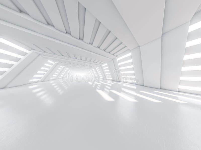 Fond moderne abstrait d'architecture, l'espace ouvert blanc vide illustration de vecteur