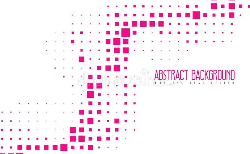 Fond moderne abstrait de couleur de rose de mosaïque Illustrations géométriques étonnantes de vecteur avec eps10 illustration de vecteur