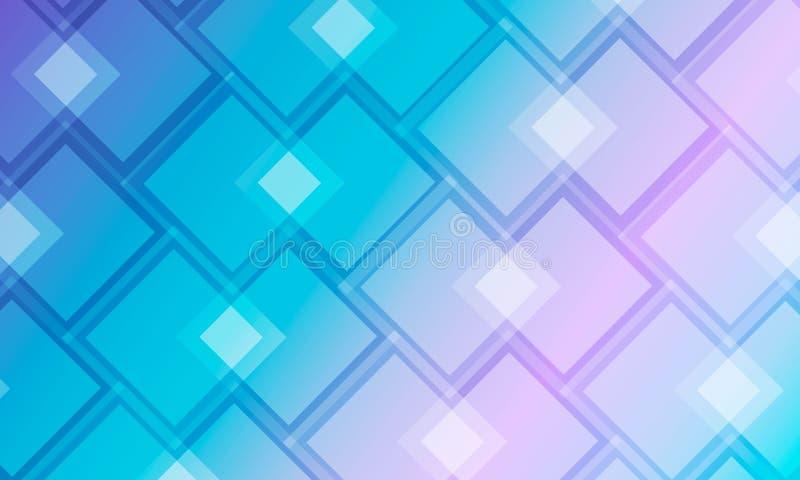 Fond moderne avec des places de bleu et de turquoise illustration de vecteur