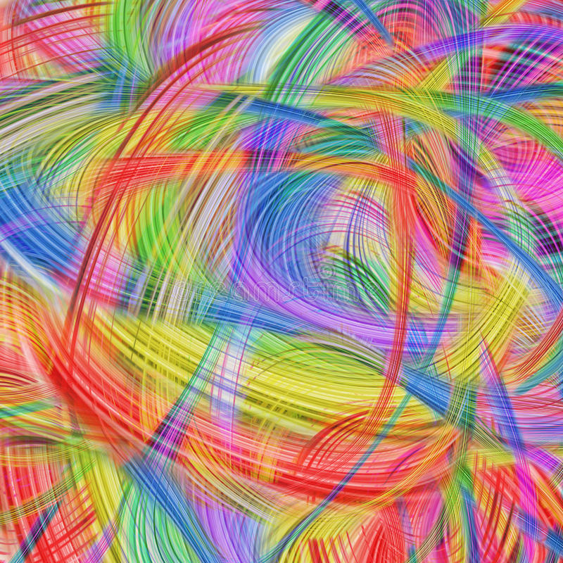 Fond moderne avec les lignes douces abstraites illustration de vecteur