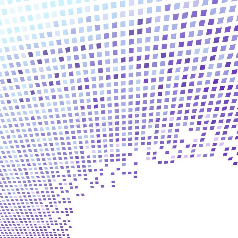 Fond moderne bleu géométrique de perspective illustration libre de droits