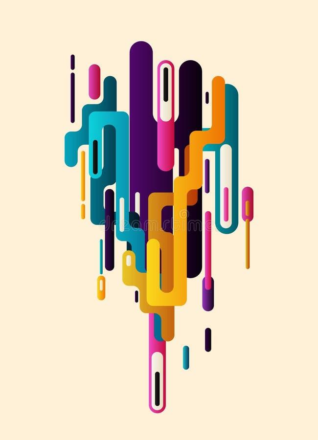 Fond moderne d'abstraction de style illustration de vecteur