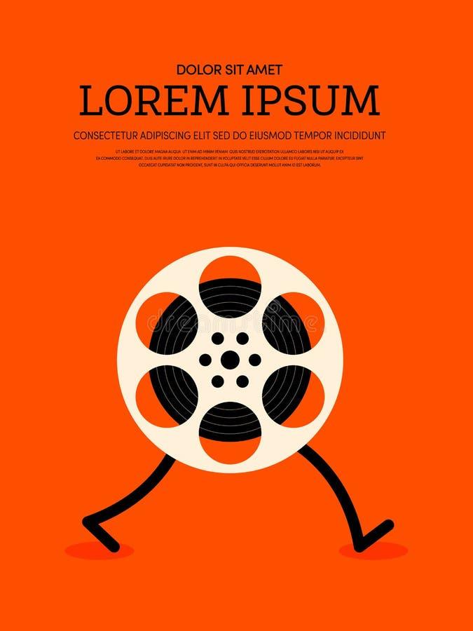 Fond moderne d'affiche de vintage de film et de film rétro illustration de vecteur