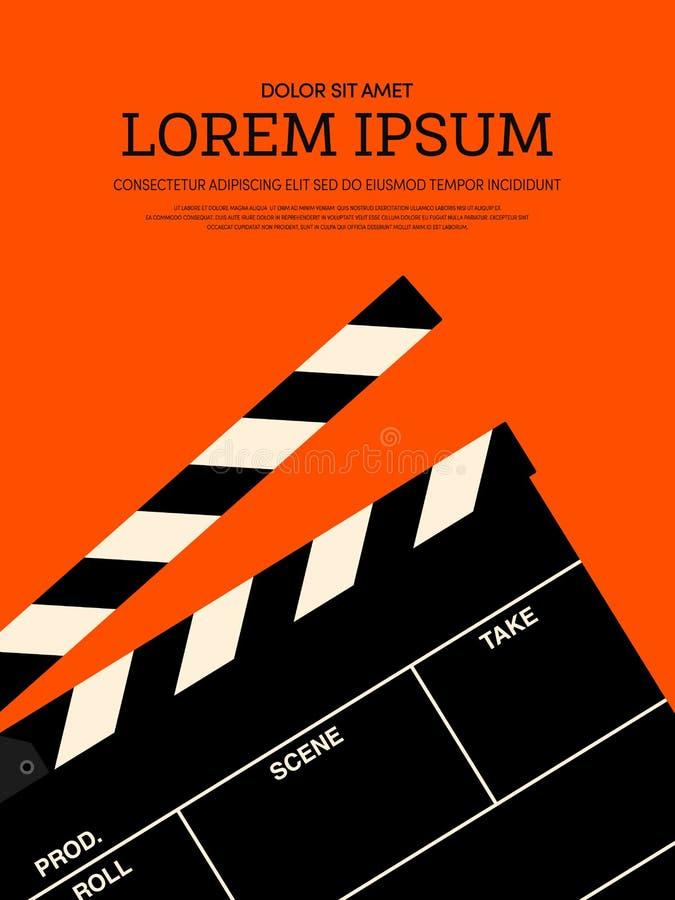 Fond moderne d'affiche de vintage de film et de film rétro illustration stock