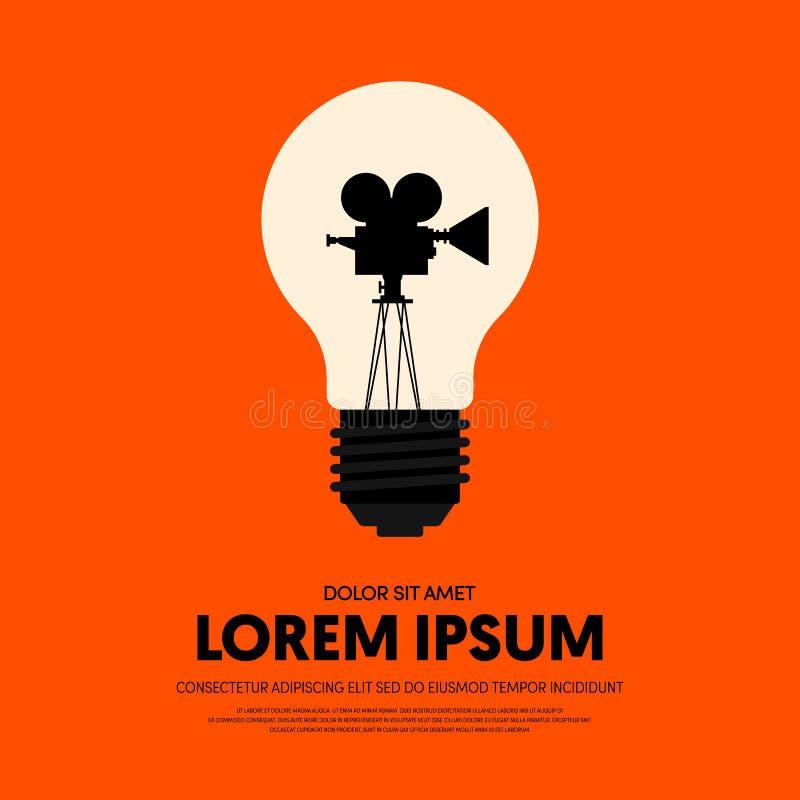Fond moderne d'affiche de vintage de film et de film rétro illustration libre de droits