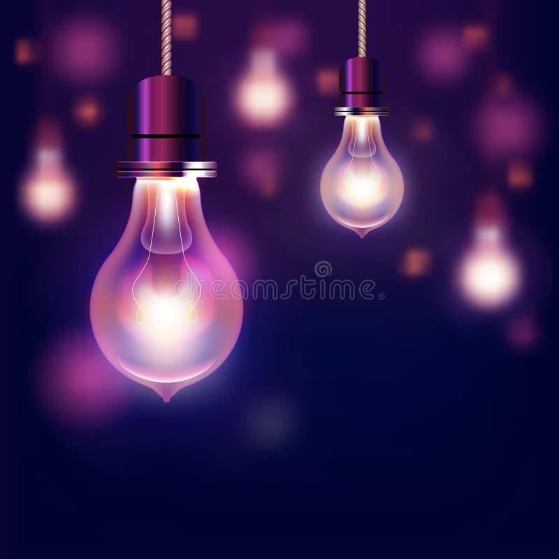 Fond moderne d'ampoules de vecteur illustration stock