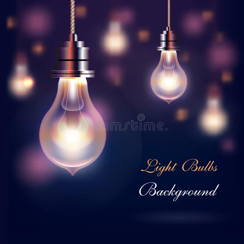 Fond moderne d'ampoules de vecteur illustration de vecteur