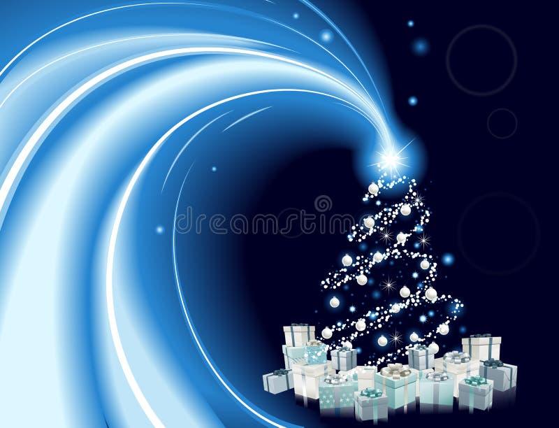 Fond moderne d'arbre de Noël de type illustration libre de droits
