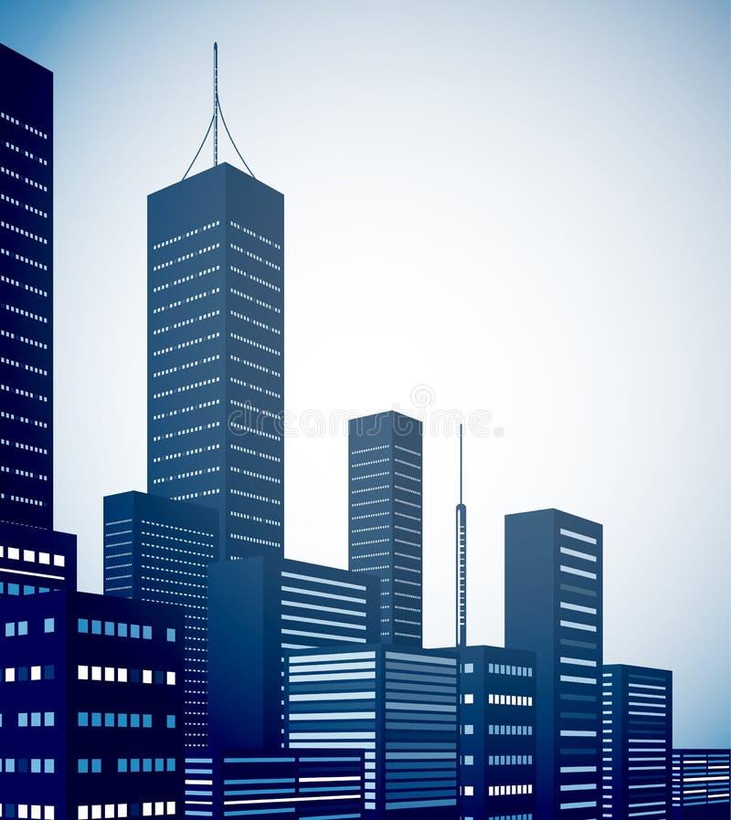 Fond moderne d'horizontal de ville illustration libre de droits