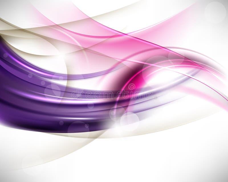 Fond moderne d'onde abstraite multicolore de vecteur illustration de vecteur