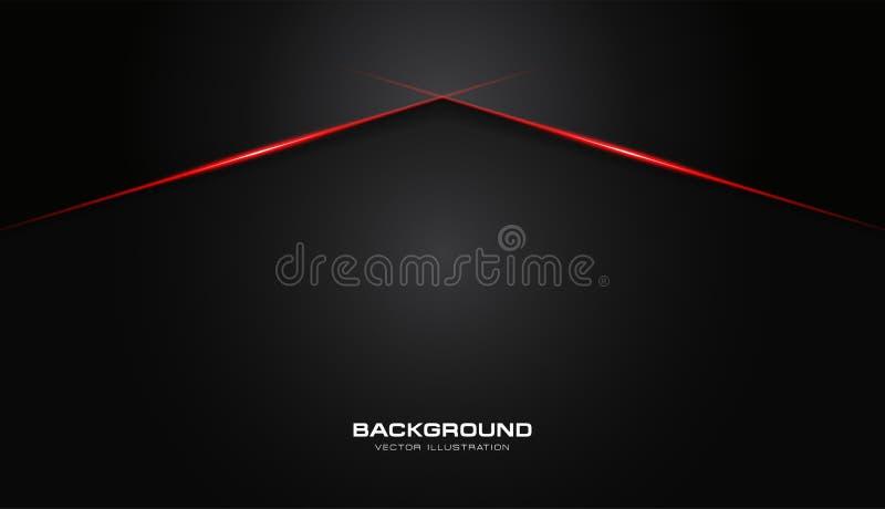 Fond moderne de calibre de vecteur de conception de technologie de couleur de noir de disposition brillante rouge métallique abst illustration de vecteur
