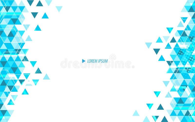 Fond moderne de concept d'innovation abstraite de triangle de vecteur illustration stock