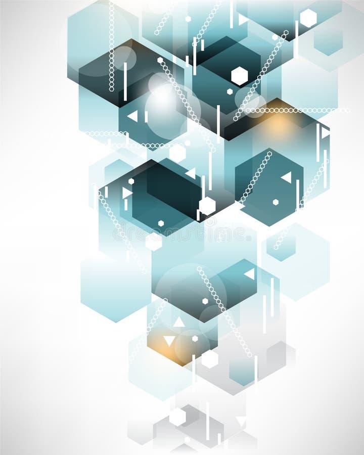 Fond moderne de modèle d'hexagone illustration libre de droits