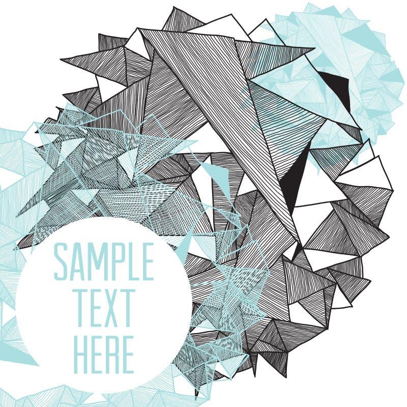 Fond moderne de modèle géométrique avec l'endroit pour votre texte illustration stock