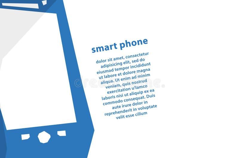 Fond moderne de vecteur avec le téléphone intelligent. Contexte avec beaucoup de PS illustration stock
