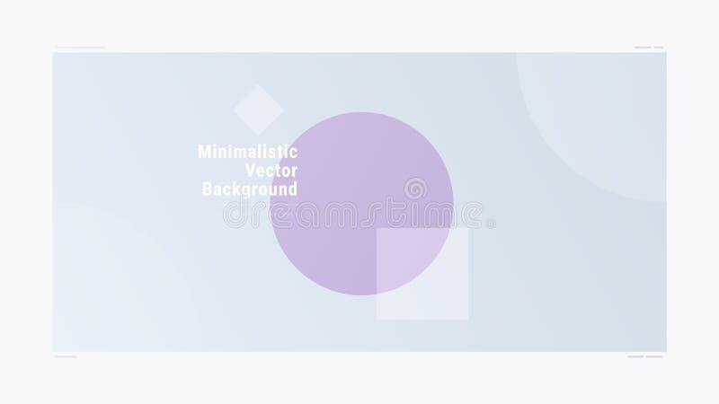 Fond moderne géométrique de vecteur de gradient minimalistic abstrait illustration stock