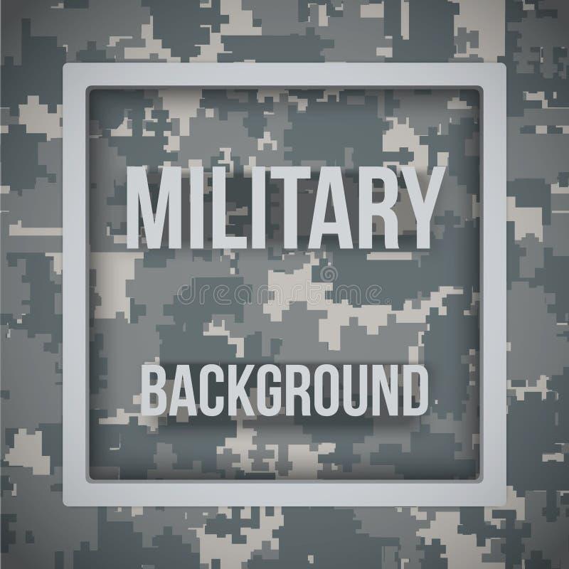 Fond moderne militaire de camo de pixel illustration stock