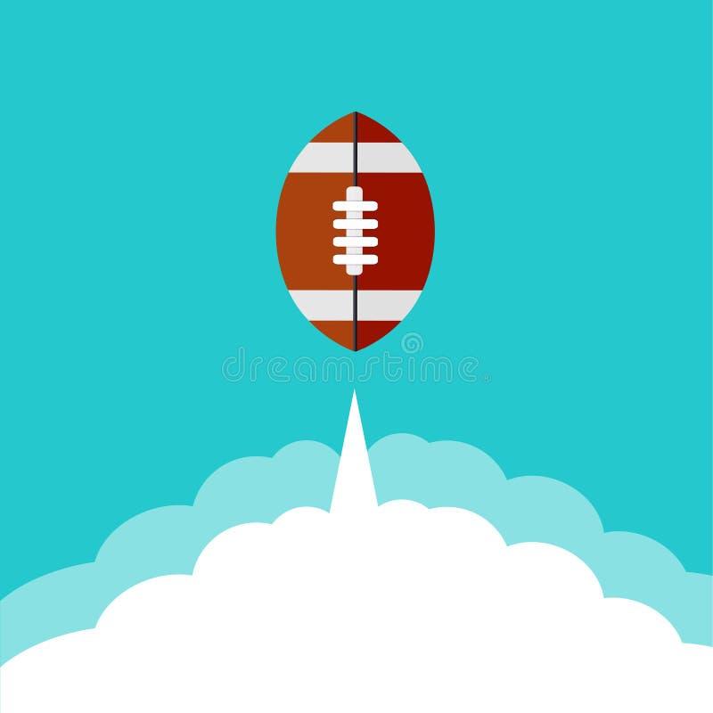 Fond moderne plat d'icône de rugby de vecteur. illustration stock
