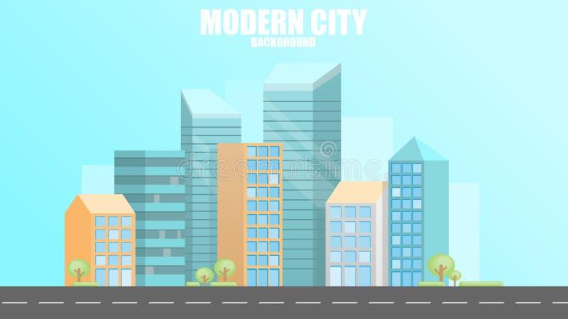 Fond moderne urbain de ville, illustration de vecteur image stock
