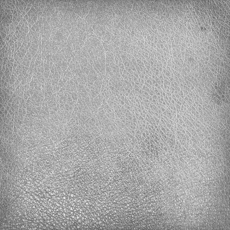 Fond modifié de grunge de texture de cuir blanc image stock