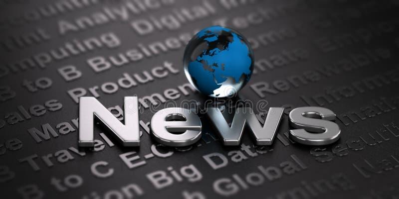 Fond mondial de nouvelles Concept de media illustration de vecteur