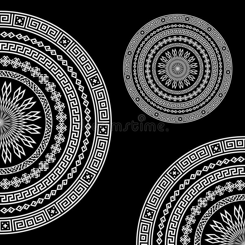 Fond monochromatique ethnique de modèle illustration de vecteur