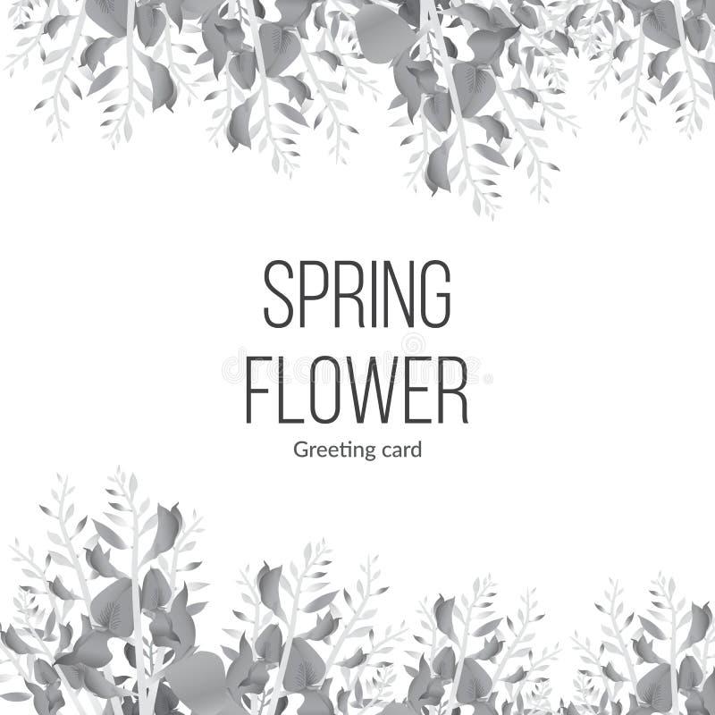 Fond monochrome de ressort avec les fleurs de floraison et for Livraison fleurs avec message