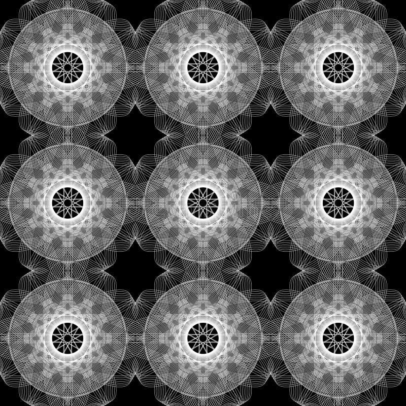 Fond monochrome sans joint de Spirograph illustration stock