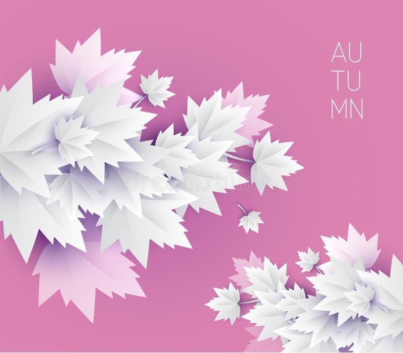 Fond mou de couleur de feuilles d'automne illustration libre de droits