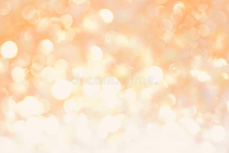 Fond mou de lumière d'abrégé sur bokeh de jaune orange images libres de droits