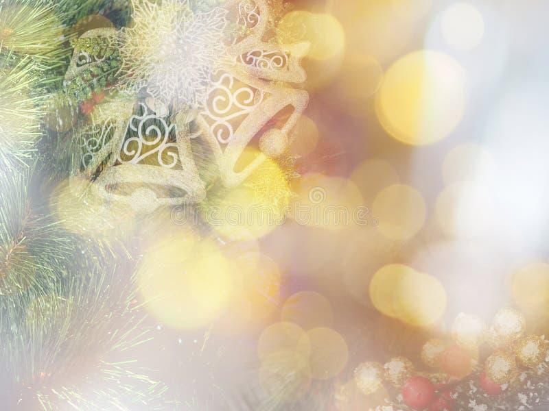Fond mou de style de Noël abstrait et de nouvelle année images stock