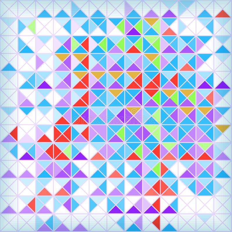 Fond mozaic géométrique abstrait lumineux illustration libre de droits