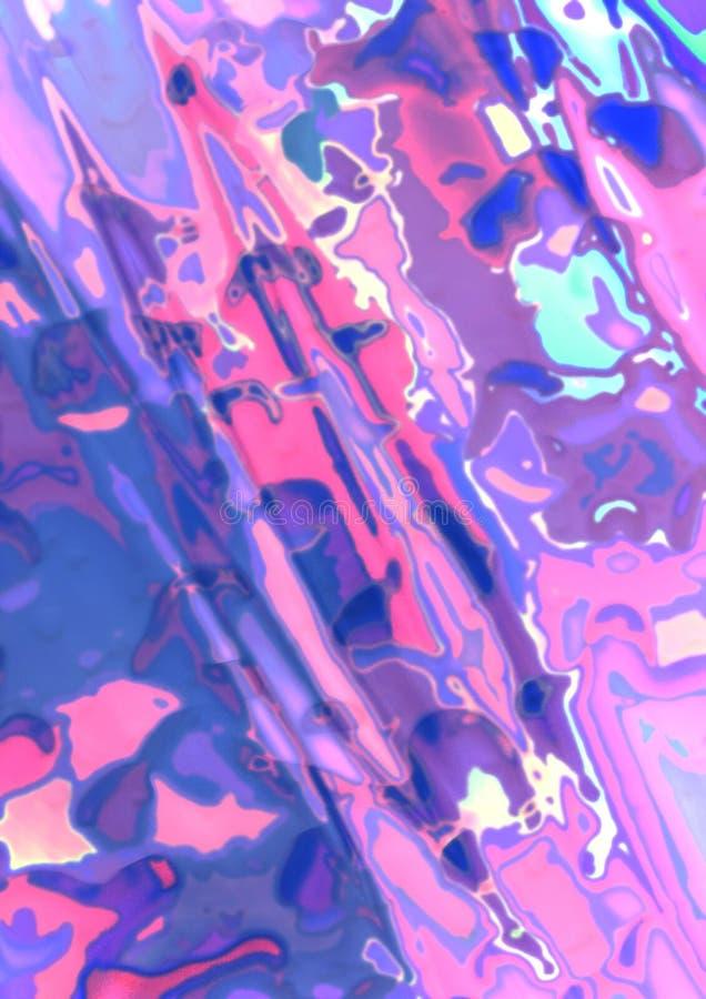 Fond multicolore abstrait aux couleurs pastel, couvertes de texture des taches et des taches colorées aléatoirement dispersées du illustration de vecteur