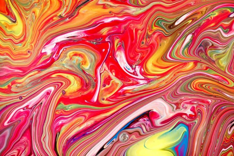 Fond multicolore abstrait de peinture Texture acrylique avec le mod?le de marbre wallpaper Peintures de m?lange Art moderne photo libre de droits