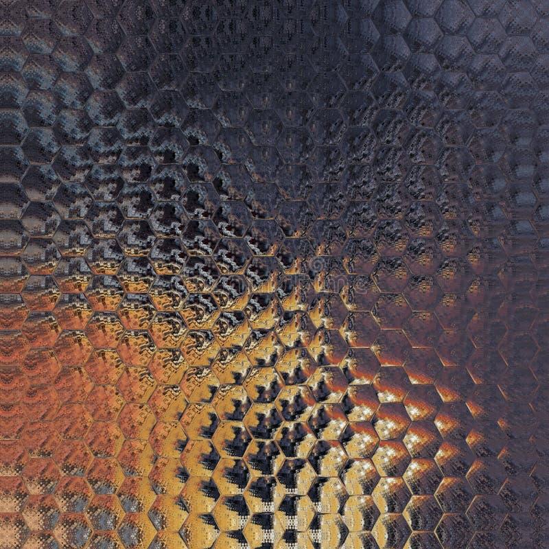 Fond multicolore abstrait, modèle hexagonal, illustration numérique images libres de droits