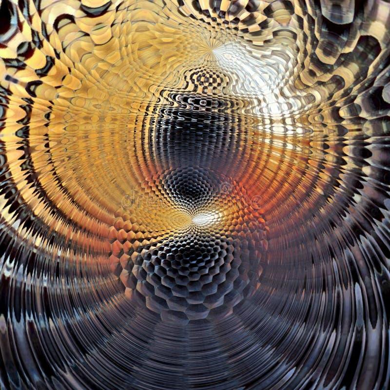Fond multicolore abstrait, texture de vortex, illustration numérique image stock