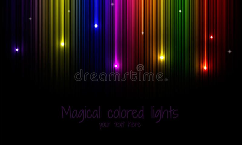 Fond multicolore d'arc-en-ciel avec l'étoile filante image libre de droits