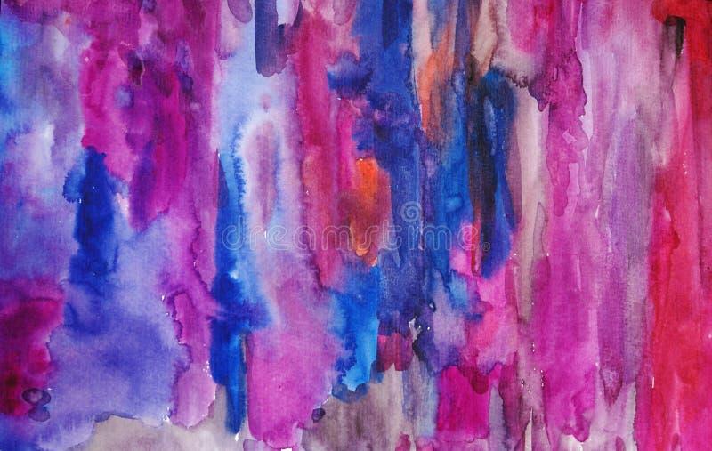 Fond multicolore d'art d'aquarelle images stock