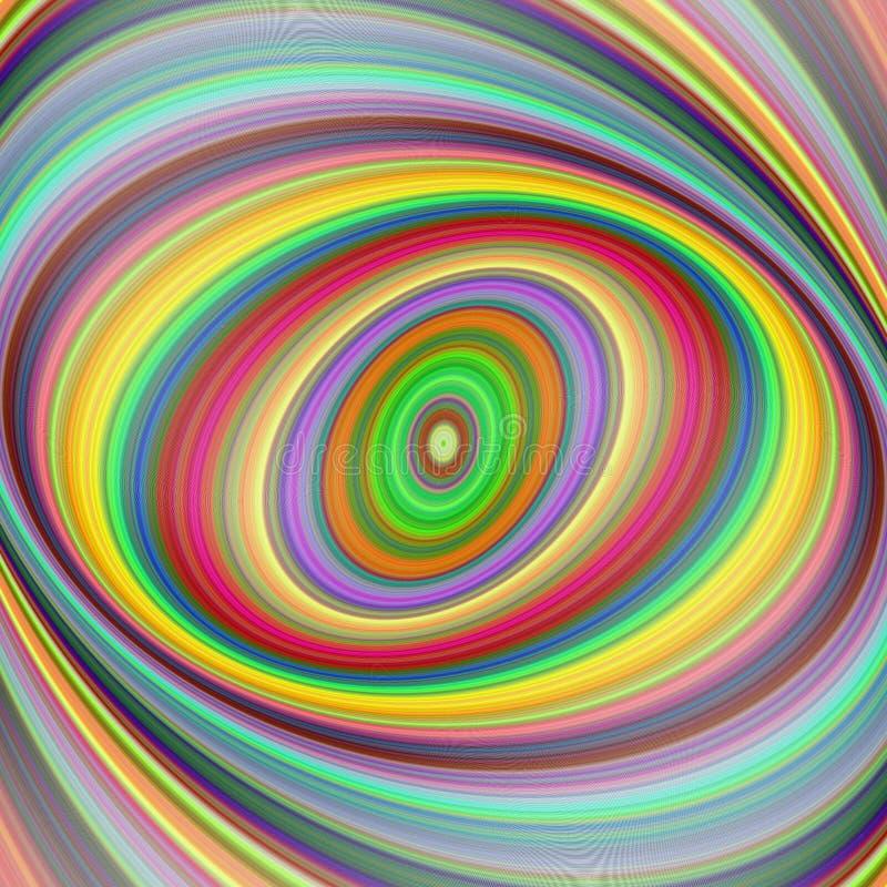 Fond multicolore d'art de fractale d'ellipse illustration de vecteur